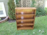 Solid Wood 4 Shelf Bookcase Maple