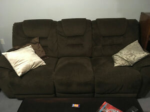 3 Seat Reclining Cloth Couch