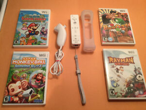 *Wii jeux  : Mario Paper - Pounch Out - Rayman - Monkey Ball