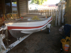 Boat 14 ft and 9.9 Hp.p moter