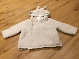 Mothercare beige up to 3 months cardigan