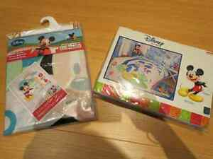 Brand New Disney Shower curtain and Disney Twin Bedding set