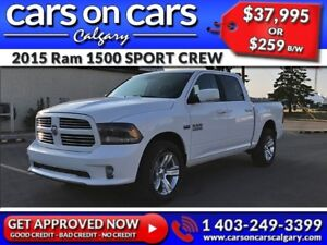 2015 Ram 1500 DODGE SPORT CREW HEMI w/Leather, Sunroof, Navi $25