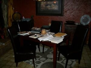 Heavy/Durable  Dining Room table plus 4 chairs
