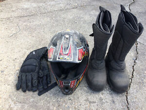 Motocross Helmet and extrad