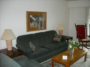 LARGE SUNNY TWO BEDROOM FULLY FURNISHED SUITE