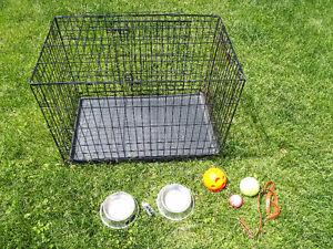 Cage et accessoire pour chien a vendre
