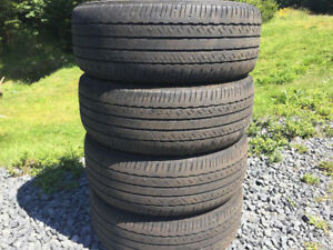 Four BridgeStone P215/55R17 Summer Tires