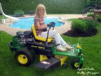 Grand terrain recherche! Couple des retraites avec tracteur....