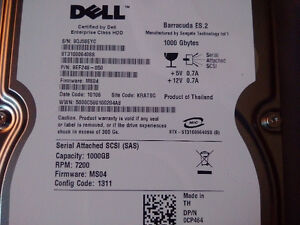 Dell 1 TB SCSI Hard Drives - quantity 2 Oakville / Halton Region Toronto (GTA) image 2