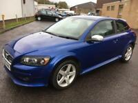 "0808 Volvo C30 1.6 R-Design Sport Blue 3 Door 82779mls MOT 12m 17"" Alloy Wheels"