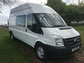 2011 Ford Transit 350 2.4 115ps 9 Seat LWB Crew Minibus Splitter Van, Camper?