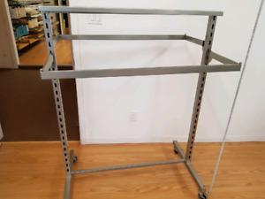 Clothing Rack Double Sided with adjustable hang bars EUC