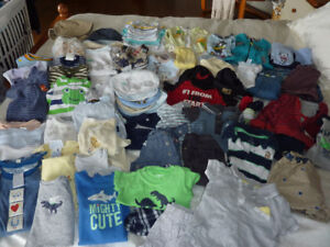 Lot de vêtements garcon 0-6 mois / Lot of 0-6 month boy clothes