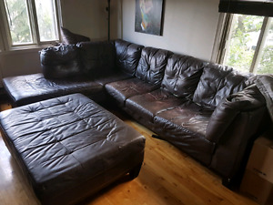Divan sectionel cuir Leather Sectional couch