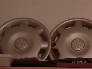 2 VW hubcaps from my 97 Jetta London Ontario image 1