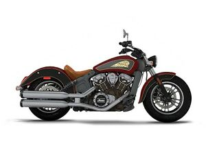 2017 Indian Scout ABS Indian Motorcycle Red Over Thunder Black