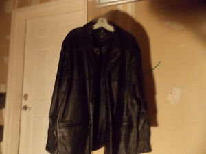 Brand new Columbia flight bomber leather jacket with watch