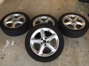 Alloy rims with tires 17 inch - $500