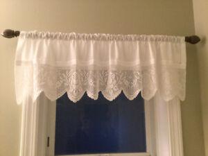 Window Valance plus curtain rod