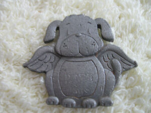 """VINTAGE COLLECTIBLE PEWTER """"PETE-the-PUP"""" from AVON"""
