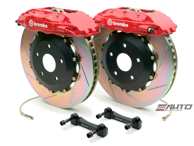 Brembo Front Gt Brake Bbk 4pot Red 355x32 Slot A4 02-08 S4 A6 2.7t C5 98-04