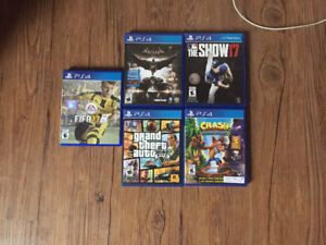 Brand New PS4, 2 controllers, 5 games