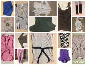 different tops, socks, shorts, cardigan...15 items for 15$