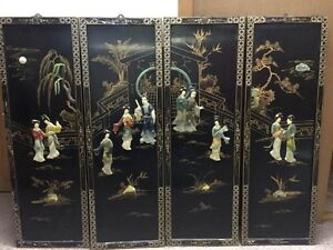 Chinese 4 panel decorative wall art West Island Greater Montréal image 3
