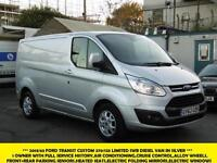 2013 FORD TRANSIT CUSTOM 270/125 LIMITED SWB IN SILVER WITH AIR CONDITIONING,ELE