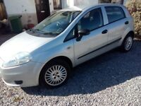 Fiat Punto Grande, 5 dr, 56k miles, Full MOT, New Clutch and Pads