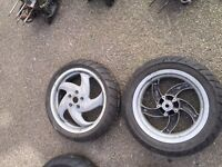 Gilera runner Piaggio typhoon 125 sp 2 stroke wheel sets