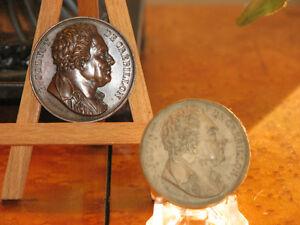 $75.00 RARE MEDAILLE BRONZE CIRCA 1818 P. JOLYOT DE CREBILLON