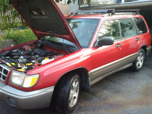 1998 Red Subaru Forester S AWD