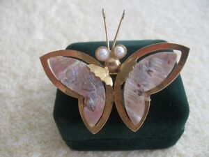 BEAUTIFUL VINTAGE GOLDTONED GOSSAMER-WINGED BUTTERFLY BROOCH Halifax Preview