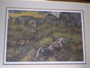"Robert Bateman Signed Limited Edition Print - ""Short Eared Owl"" Kitchener / Waterloo Kitchener Area image 6"