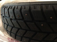 Set of four studded Hankook tires 185/65 R15