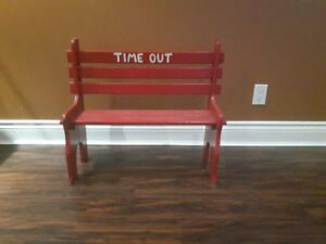 """Cute Handmade """"Time Out Bench"""""""