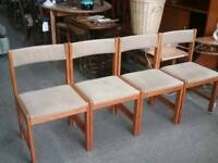 SALE NOW ON!! Set Of 4 Danish Chairs For Re-upholstery Project -Can Deliver For £19