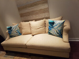 Gluckstein Home Suede Sofa & Chair