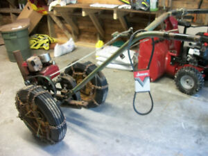 gas powered plow - briggs & stratton 5hp industrial engine