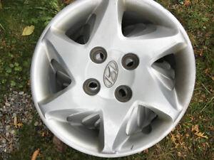 4x Enjoliveur Hyundai  15pouces