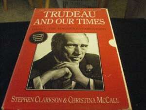 Trudeau and our times 2 book collection