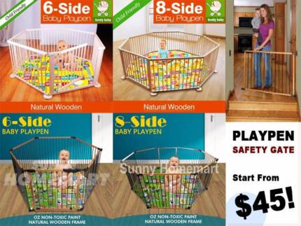 Safety Gate Wooden Baby Playpen 6 Panels 8 Panels Safety Play Fun