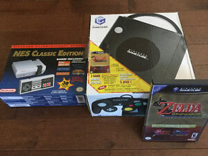 NES CLASSIC EDITION AND NINTENDO GAMECUBE WITH ZELDA GAMES