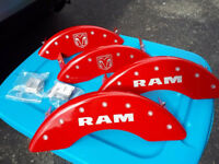 Red and Silver Caliper Covers Dodge RAM 55002SRMHRD
