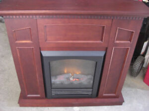 Electric Fireplace / Coffee~End table / Wicker stand