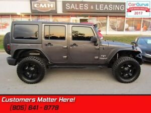 2016 Jeep Wrangler Unlimited Sahara  4X4, NAVIGATION, 2 TOPS, LI