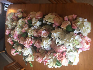Ivory and Blush Silk Wedding Flowers