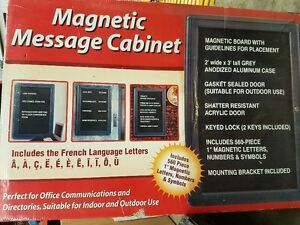 Advertising Message Cabinet